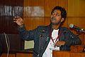 Debdip Dhibar - Presentation - Bangla Wikiabhidhan Prakalpe Adivasi Bhasha Sangjojaner Prayas O Prajukti Samasya Theke Sama-Asha - Bengali Wikipedia 10th Anniversary Celebration - Jadavpur University - Kolkata 2015-01-10 3200.JPG