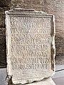 Decius Marius plaque, Colosseum.jpg