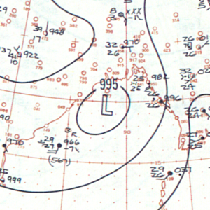1960 North Indian Ocean cyclone season - Image: Deep Depression Two analysis 27 May 1960