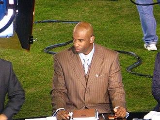 Deion Sanders - Sanders as an NFL Network analyst in 2008.