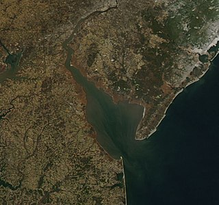 Delaware Bay The estuary outlet of the Delaware River on the northeast seaboard of the United States