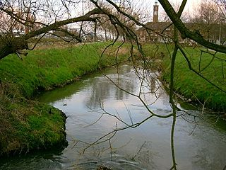 Demer river in Belgium