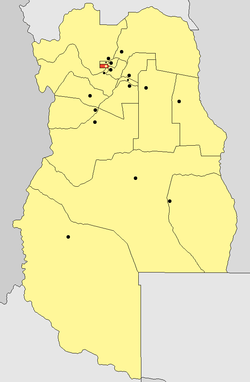 location of Godoy Cruz Department in Mendoza Province