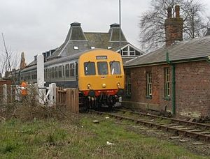 Norfolk - The Mid-Norfolk Railway at Dereham railway station.