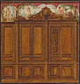 Design for the decoration of a room with a large wood-paneled cupboard surmounted by the monogram- H MET 67.827.214.jpg