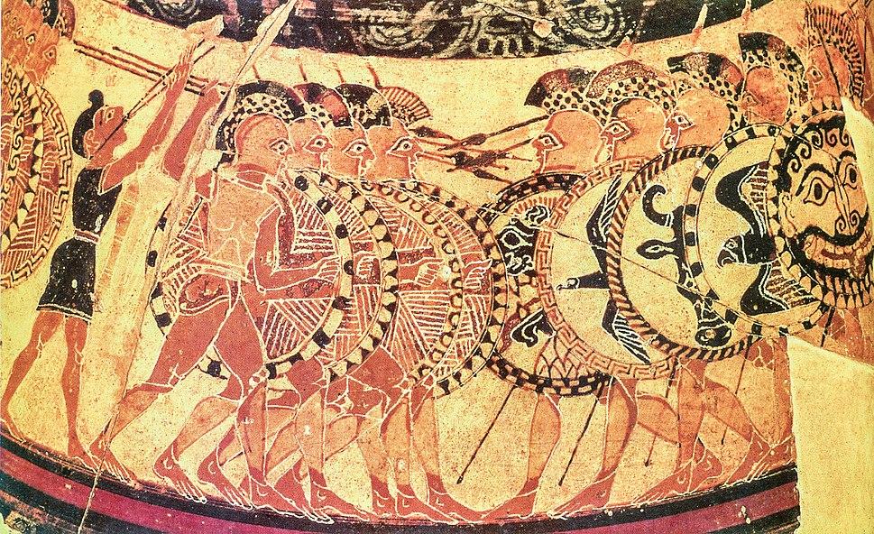 Detail from the Chigi-vase