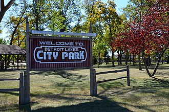 National Register of Historic Places listings in Becker County, Minnesota - Image: Detroit Lakes City Park