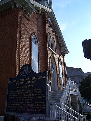 Dexter Avenue Baptist Church - Image: Dexter Avenue Baptist Church