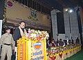 Dharmendra Pradhan addressing at the Golden Jubilee Celebration of Barauni Refinery of Indian Oil Corporation, at Barauni, in Begusarai, Bihar on January 18, 2015.jpg