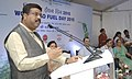 """Dharmendra Pradhan addressing at the launch of the """"Bio Fuel Blended Diesel"""" (B-V Diesel), on the occasion of the """"World Bio Fuel Day"""", in New Delhi on August 10, 2015.jpg"""