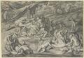 Diana und Kallisto, im Hintergrund der sich nähernde Aktaion (SM 15118z).png
