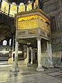 Die Sultansloge auf antiken Säulen in der Hagia Sophia - panoramio.jpg