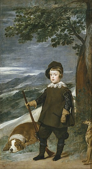 Prince Balthasar Charles as a Hunter - Image: Diego Velázquez 054