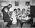 Diner aangeboden door de president van Israel aan het Koninklijk paar in de Amba, Bestanddeelnr 909-7148.jpg