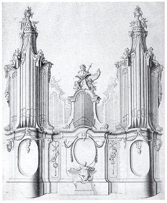 Organ building - Design for an organ by Johann Georg Dirr, 18th century