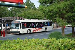 Disney bus in Walt Disney World, Florida.jpg
