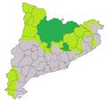Distribució de llop a Catalunya.png