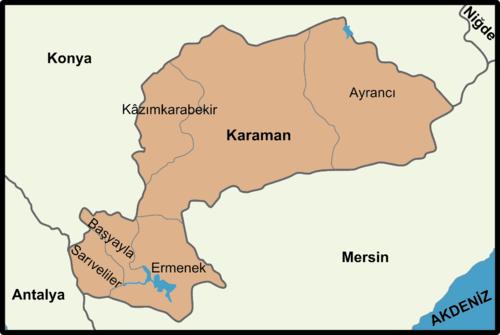 Karaman'ın ilçeleri