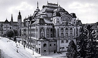 Košice - National Theater built in 1899