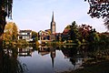 Doesburg and its church reflected in the water at 26 October 2015 - panoramio.jpg