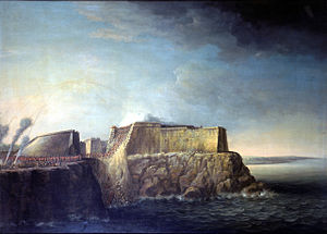Dominic Serres the Elder - The Capture of Havana, 1762, Storming of Morro Castle, 30 July.jpg