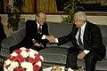 Donald Rumsfeld and Algerian Minister of Defense Abdelmalek Guenaizia, 2006.jpg