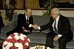 Donald Rumsfeld and Algerian Minister of Defense Abdelmalek Guenaizia, 2006.jpg