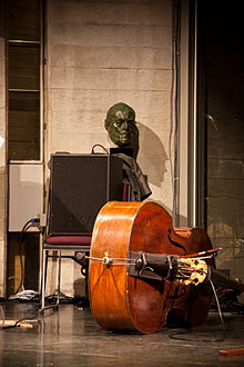 A Mid Sized Bass Amp Used To Amplify A Double Bass At A Small Jazz Gig.