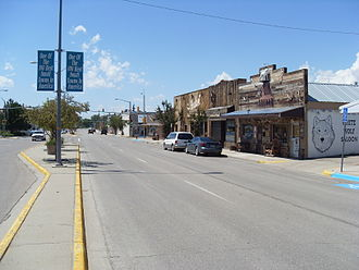 Douglas, Wyoming - Center Street (city center), view to the west