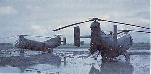 Battle of Ap Bac - Two downed US CH-21 helicopters