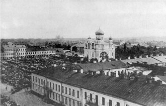 Daugavpils - Daugavpils (Dvinsk) town centre at the beginning of the 20th century