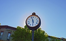 A clock in downtown Lee's Summit