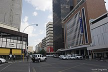 Namibia-Economy-Downtown Windhoek, Independence Avenue
