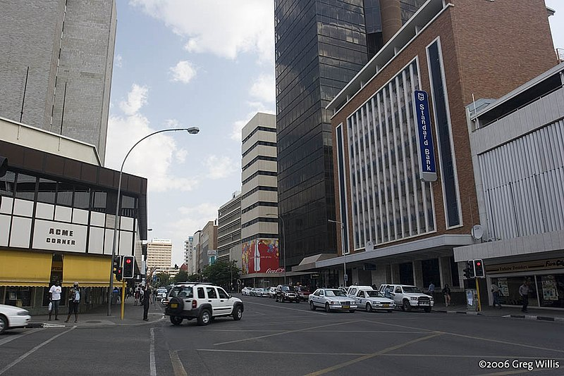 File:Downtown Windhoek, Independence Avenue.jpg