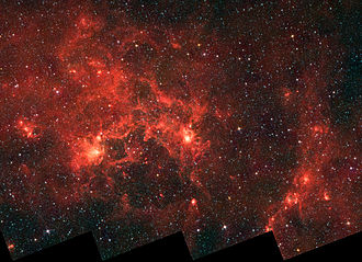Dragonfish Nebula - Infrared image from the Spitzer Space Telescope
