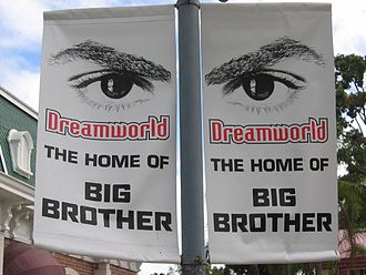 Big Brother (Australian TV series) - Banners advertising the show in Dreamworld's Main Street.