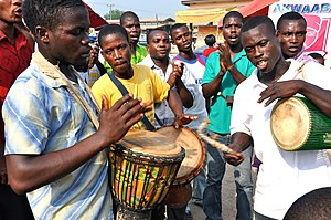 Music of Africa - Traditional drummers in Ghana