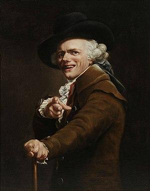 Joseph Ducreux - Portrait de l'artiste sous les traits d'un moqueur, Self-portrait, ca. 1793
