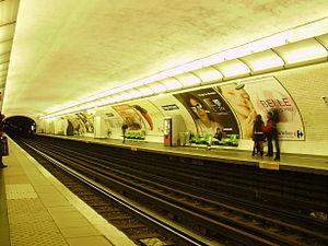 Dugommier (Paris Métro) - Image: Dugommier métro 03
