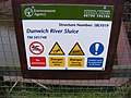 Dunwich River Sluice Sign - geograph.org.uk - 1166022.jpg