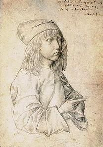 DÜRER Albrecht Self Portrait at 13, 1484