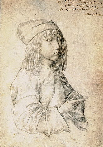 Self-Portrait (Dürer, Madrid) - Image: Durer self portrait at the age of thirteen