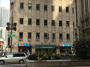Dylan's Candy Bar - Dylan's Candy Bar in Chicago on the Magnificent Mile; formerly a Tribune Tower annex for WGN Radio and WGN-TV until their 1961 move to a new North Center facility.