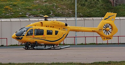 G-SASN - A previous Babcock-operated H145, with the callsign 'Helimed 02' EC145 G-SASN IMG 1843 (19639002395).jpg