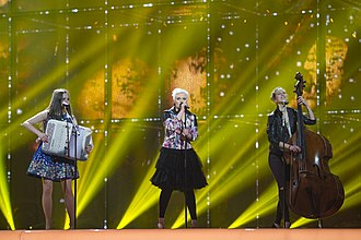 Germany in the Eurovision Song Contest 2014 - Elaiza at rehearsal in Copenhagen