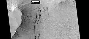 Pedestal crater