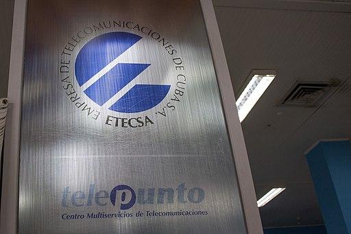 ETECSA telepunto sign