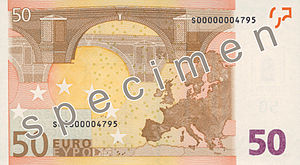 50 euro note - Reverse