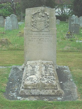 Harold Pearson, 2nd Viscount Cowdray - Harold Pearson's grave at St. Mary's parish church, Easebourne, West Sussex