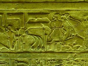 Sky (hieroglyph) - Image: Edfu 31